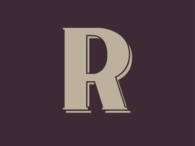 36 Days of Type - R 36daysoftype type display typeface font typography handcrafted vintage retro