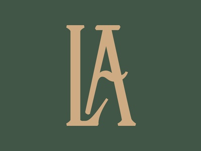 LA Ligature (new font WIP) handcrafted display type typeface font typography