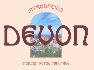 Devon Typeface retro psychedelic display vintage typeface font typography handcrafted