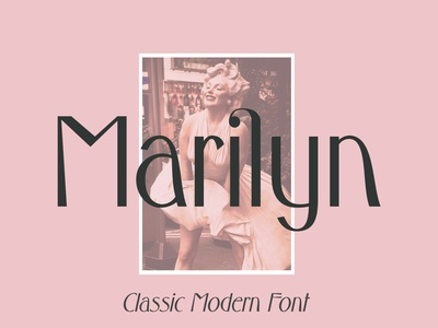 Marilyn - Classic Modern Font wedding magazine fashion typography vintage handcrafted marilyn trendy font modern font classic font ligatures psychedelic sans font display typeface font