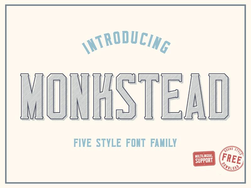 01 monkstead font title