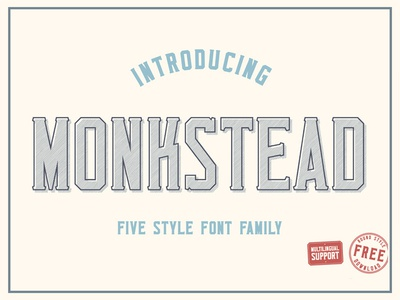 Monkstead Font (round style for free)
