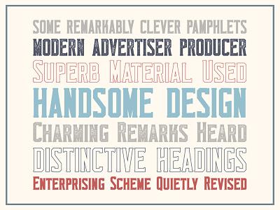 Monkstead Font (round style for free) block font label logo header title serif stamp layered vintage retro font