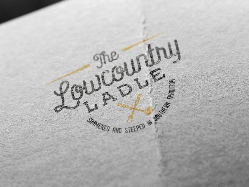 The Lowcountry Ladle traditional old ladle food restaurant vector illustration americana brand design print handcrafted badge display label branding logo vintage retro
