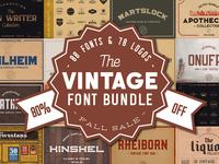 Vintage Font Bundle - Fall Sale