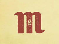 M from upcoming font