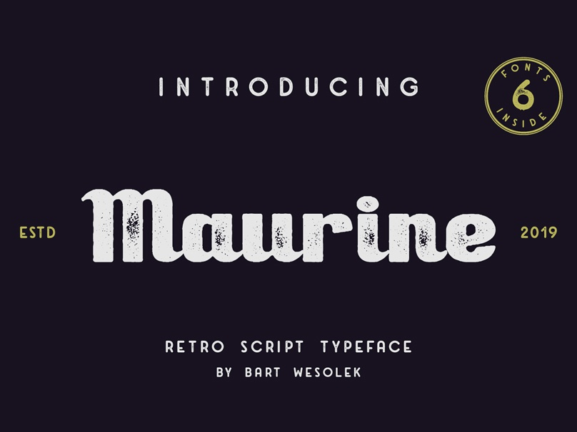 Maurine - a retro script font by Bart Wesolek on Dribbble
