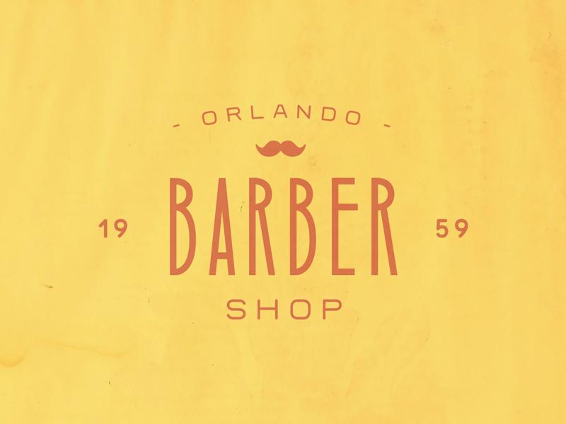 Orlando Barber Shop print display design logotype font template display font type handcrafted americana brand typeface badge branding label barber shop typography logo vintage retro