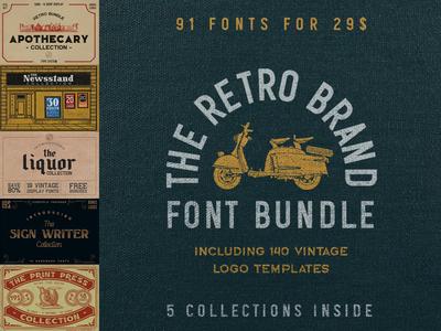 The Retro Brand Font Bundle