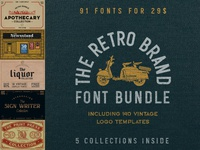 The Retro Brand Font Bundle