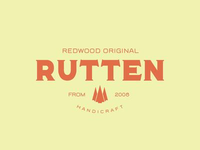 Rutten Handicraft serif logotype display font type americana brand design badge typeface branding display font typography handcrafted logo vintage retro