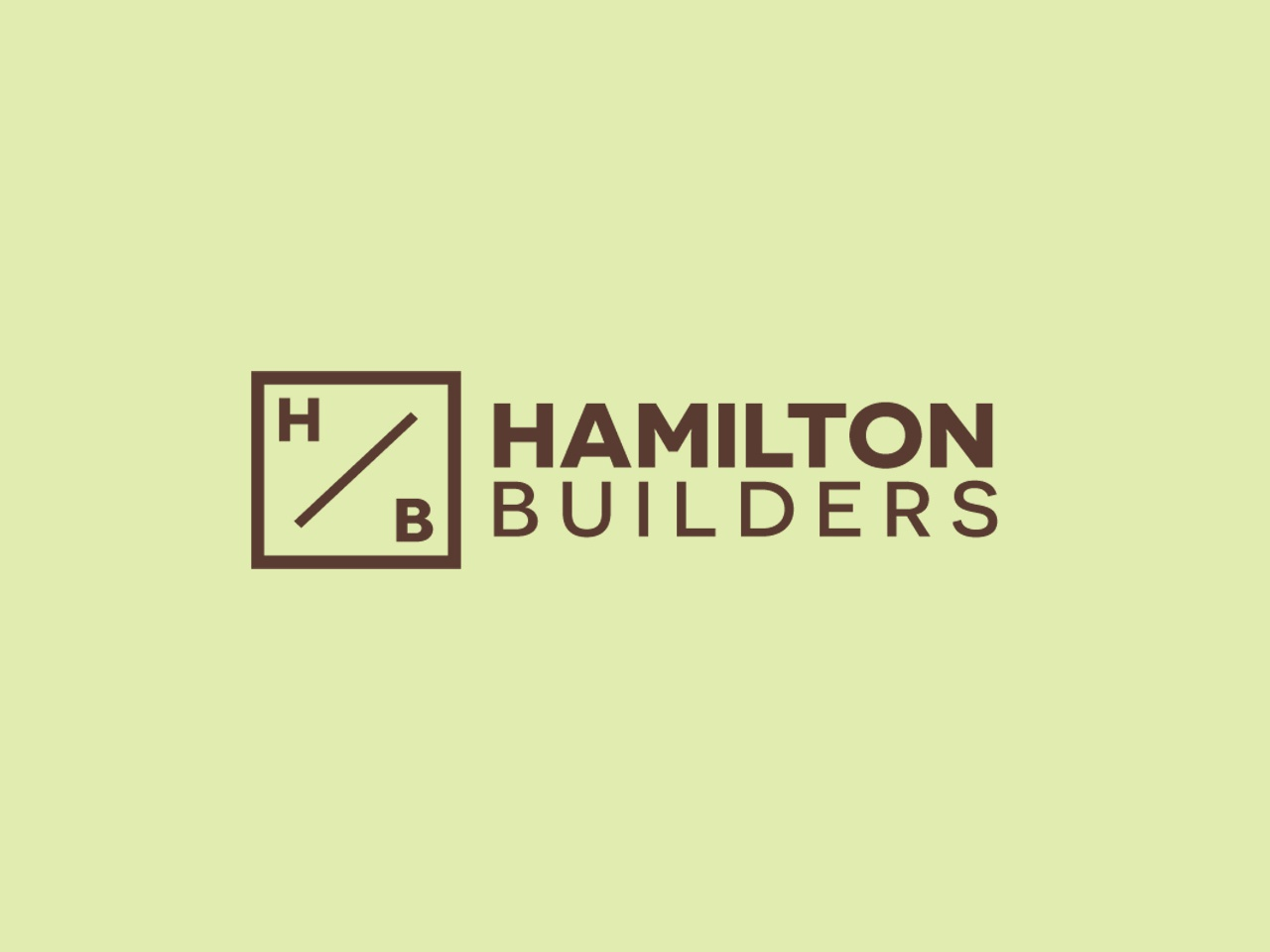 Hamilton Builders web app icon ux ui template vector brand display handcrafted monogram logo builders square simple minimalist design label branding typography logo