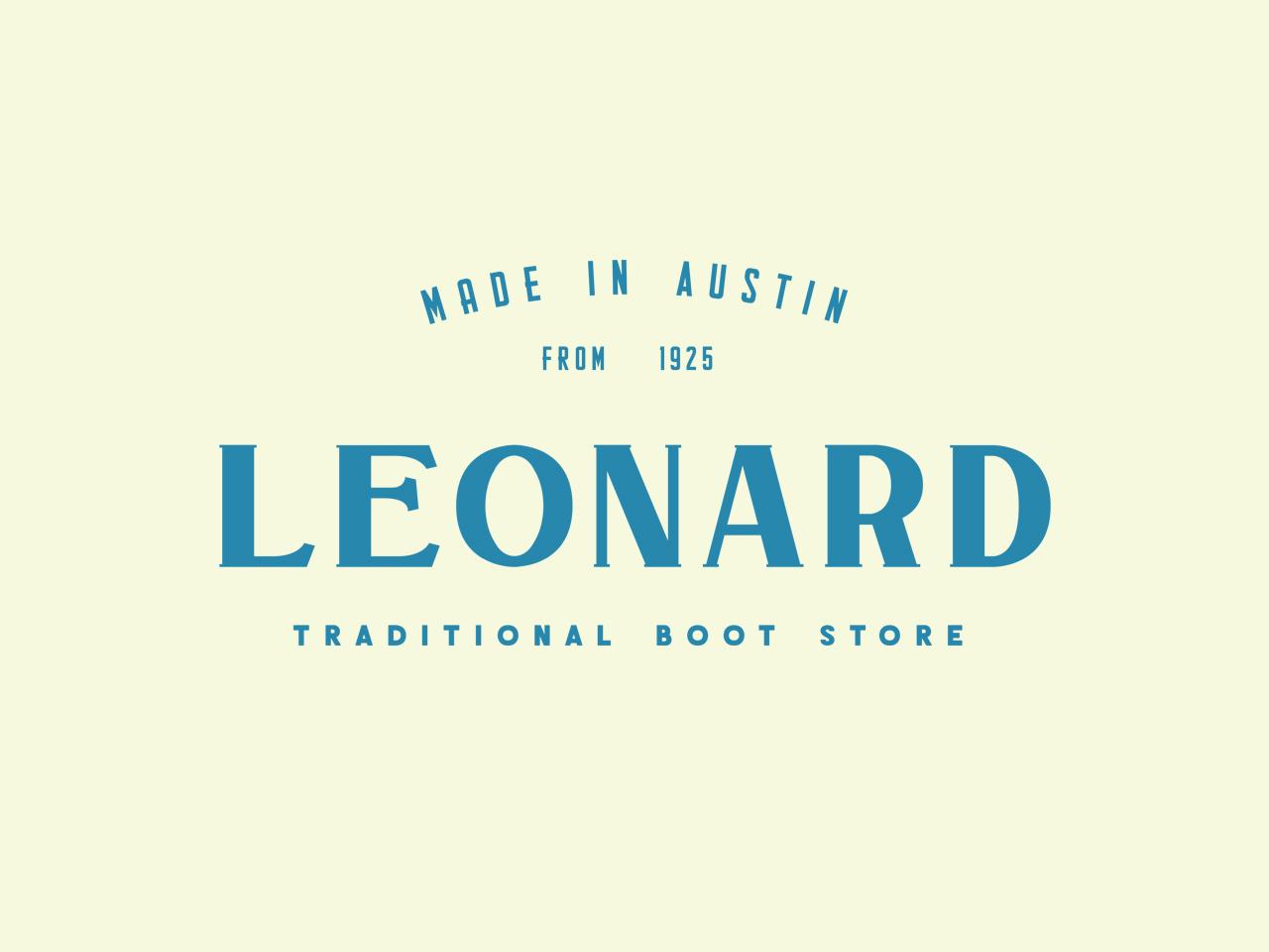 Leonard Boot Store old type badge simple serif label logotype display font americana design brand typeface branding font display typography handcrafted logo vintage retro