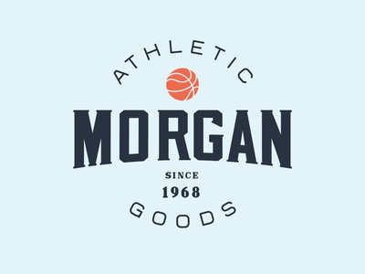 Morgan - Athletic Goods type label logotype display font simple brand design badge typeface branding font display icon basketball sport typography handcrafted logo vintage retro
