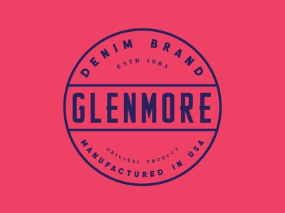 Glenmore - Denim americana denim display font type logotype brand design badge label typeface branding font display typography handcrafted logo vintage retro