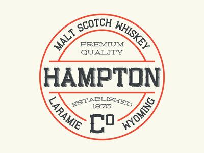 Hampton Whiskey Label western font whiskey serif liquor logotype display font type brand design badge label typeface branding font display typography handcrafted logo vintage retro
