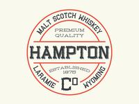 Hampton Whiskey Label