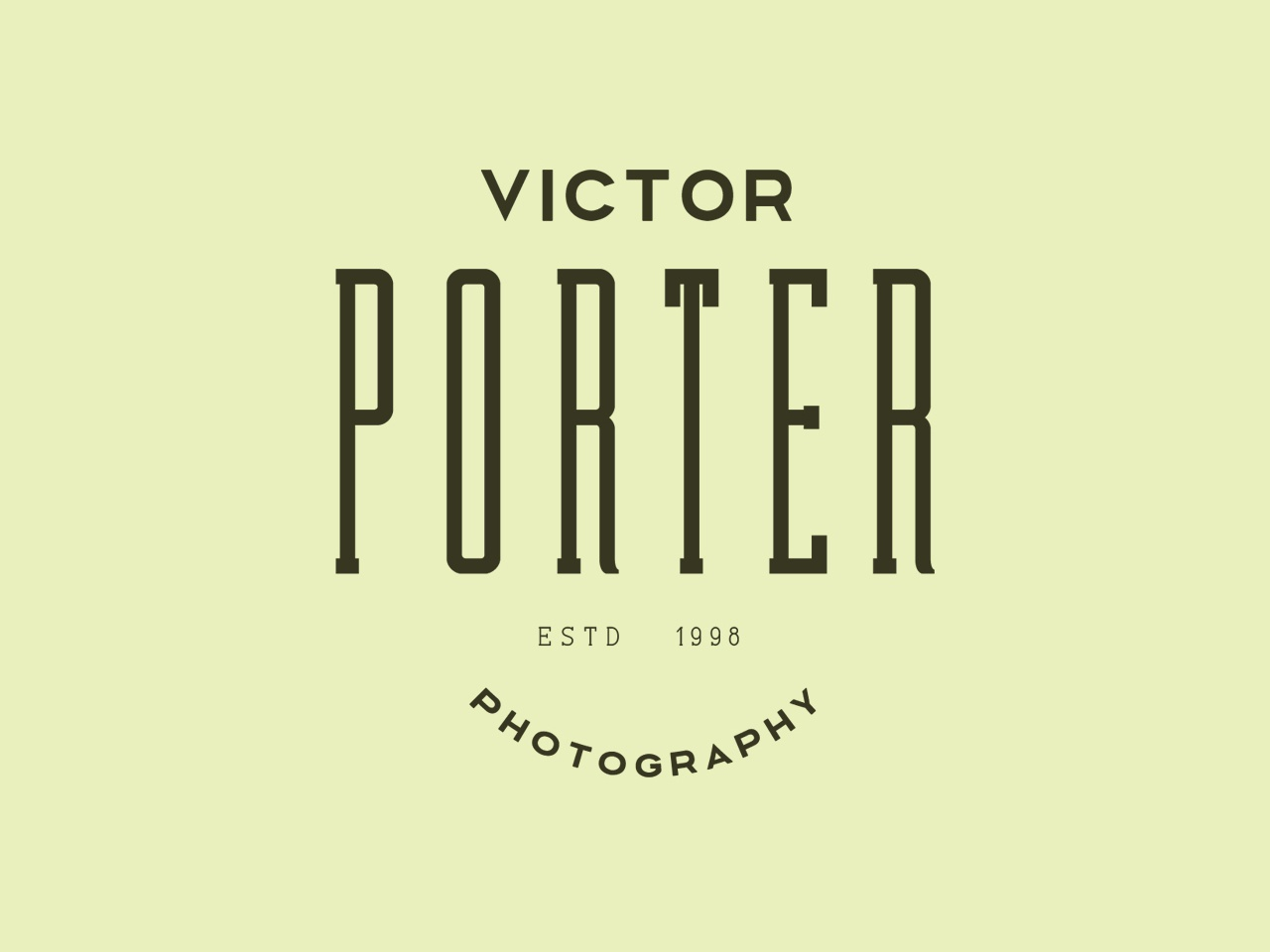 Porter Photography americana freelance simple display font logotype brand badge label condensed font display type design typeface branding font typography logo handcrafted vintage retro