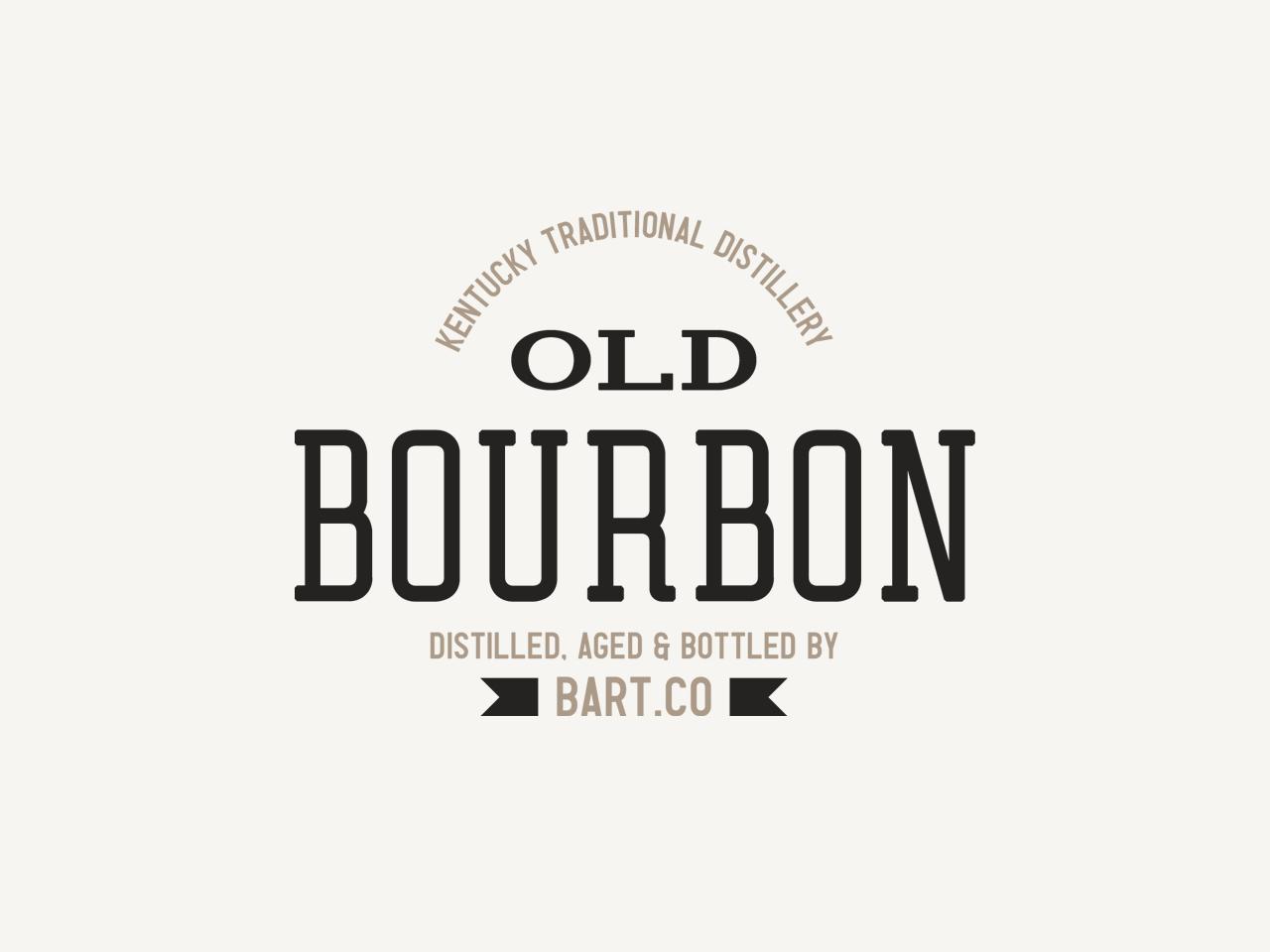 Bourbon - Retro Logo bourbon sans brand americana liquor serif logotype display font type simple badge label branding typeface font typography handcrafted logo vintage retro