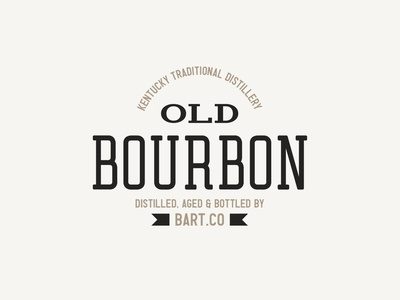Bourbon - Retro Logo