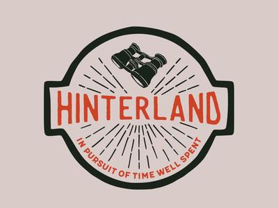 Hinterland adventure wanderlust design vector print simple logotype illustration icon americana brand badge label branding display typography handcrafted logo vintage retro