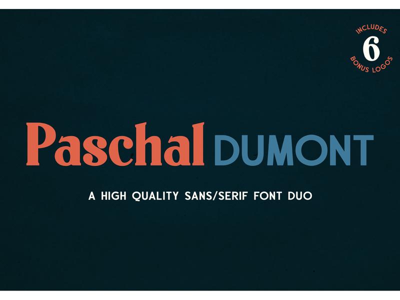 Paschal Dumont - a Classy Serif/Sans Font Duo design display branding logo typography handcrafted vintage serif font duo sanserif sans typeface font