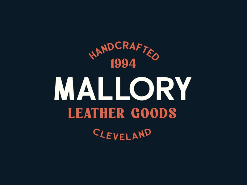 Mallory - Paschal Dumont design typeface branding font display typography logo handcrafted vintage retro