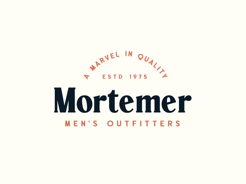 Mortemer - Paschal Dumont logo display handcrafted badge label typeface font typography vintage retro
