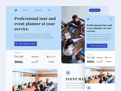 Werku - Company Profile Landing Page responsive website responsive design company website company profile professional design clean ui clean design design website landing page ux ui