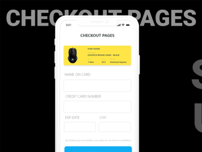 Daily UI Challenge #002 - Credit Card Checkout Concept