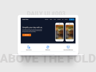Daily UI Challenge #003 - Above the fold oncept