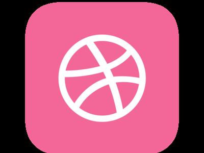 Hello Dribble ! ( Daily UI 005 - App Icon )