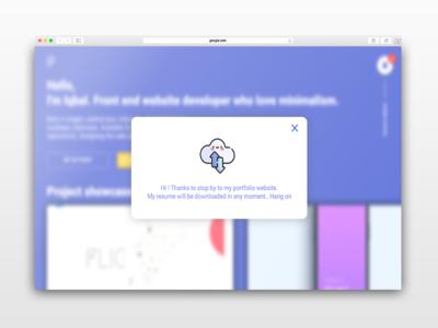 Download interaction ui