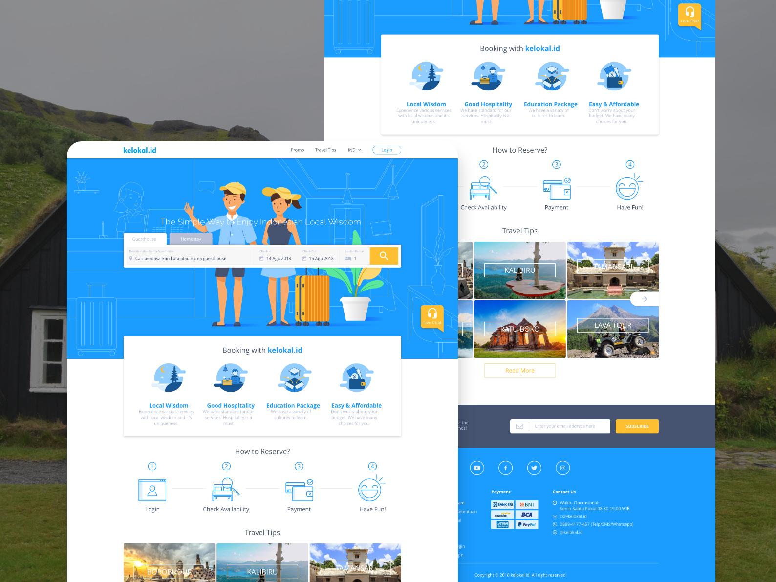 Kelokal.id - Landing Page UI ux ui dashboard minimal vector app icon typography branding website landing page card illustration design mockup app design daily ui