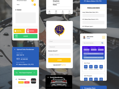 SIMPKB - Application UI landing page ux icon website ui illustration mockup daily ui design mobile design app design