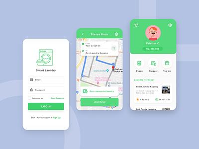 Smart Laundry - UI Design Proposals design landing page illustration ui app design mockup daily ui