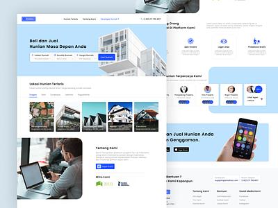 Omahku - Landing Page UI Proposals dashboard website mobile design design illustration ux ui landing page mockup daily ui