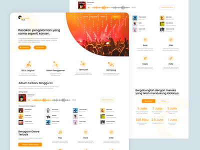 #Exploration - Music landing page ( FREE SOURCE ) ux design ui design ui  ux website design website designer explorations music website landing page