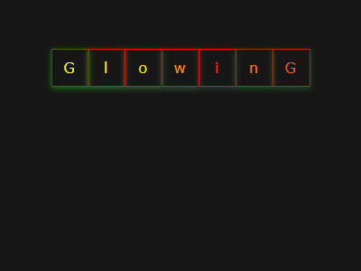 Glowing Text