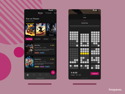 Movie Book ux ui material ui ios app design figma design app