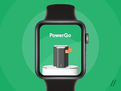 Apple Watch Power Bank Rental App ux ui timer sharing pin card payment map animation powerbank rental location design apple watch cuberto figma apple app