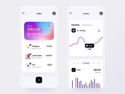 Online Banking Mobile App Concept mobile app design mobile ui mobile app neobank fintech app fintech financial app finance app finance banking dashboard banking app banking app design app