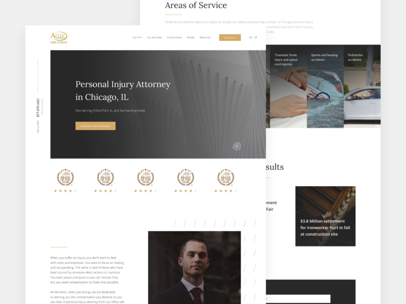 Personal Injury Law Firm Website lawfirm law injury personal ux webdesign website web ui design simple