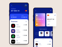 Mobile Banking & Finance App mobile ux ui design payment cuberto income freebie finance figma credit card ios dropbox uber spotify netflix banking card apple app