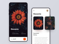 Flowers Online Shop & Delivery App simple typography shipping shop online cartoon payment minimal ios flowers ecommerce delivery freebies free figma app mobile ux ui design