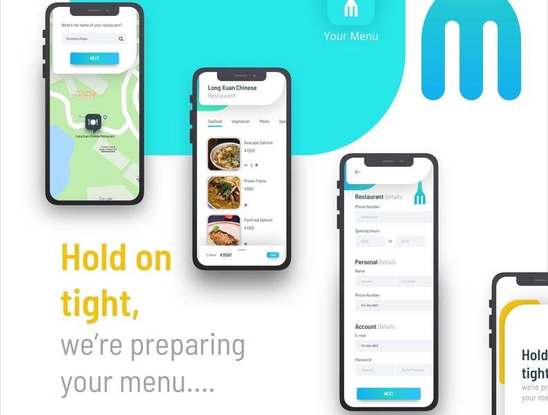 Menu typography ios app food application apple app design app ux branding design