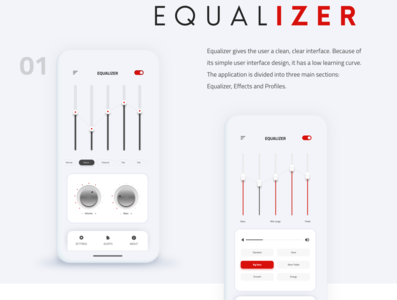 Equalizer mobile App ux design ios app design visual design equalizer mobile app app