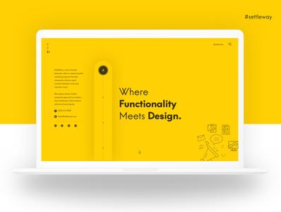 settleway design agency branding web app visual design web agency website ux design