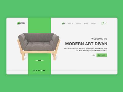 Sofa web design graphic design illustration adobe xd