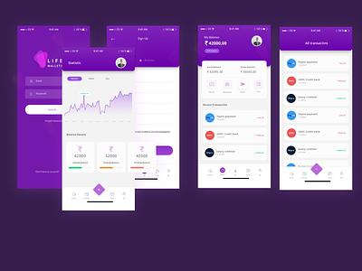 Wallet App adobe xd design ui figma sketch